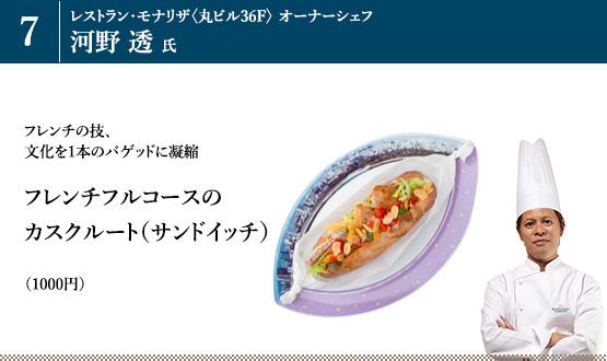 「フレンチフルコースのカスクルート(サンドイッチ)」(1000円)