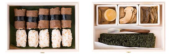 「じゅわっとするお麩のすきやき寿司弁当」